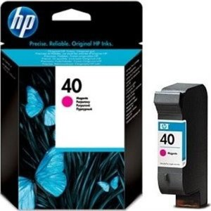 Cartucho HP 40 magenta 42ml 51640m HP CX 1 UN