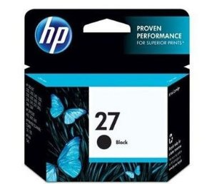 Cartucho HP 27 preto 10ml C8727AB HP CX 1 UN