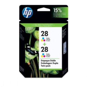 Cartucho HP 28 tricolor twinpack (2x C8728AL) CD995FL HP CX 1 UN Original