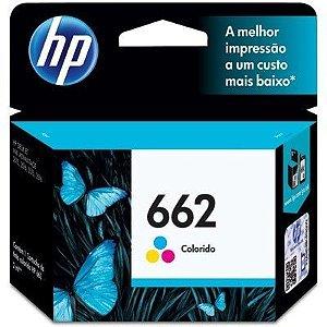 Cartucho HP 662 colorido CZ104AB Original