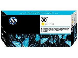 HP 80 Cabeça de impressão/Limpeza Amarelo C4823A Original