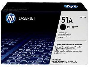 Cartucho de toner LaserJet preto HP 51A original(Q7551A)