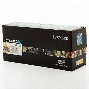Toner Lexmark C782dn C782n C782X1CG Ciano Original
