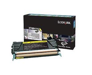 Toner Lexmark Amarelo de Rendimento Alto X748 X748H1YG Original