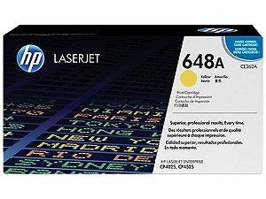 Cartucho de toner LaserJet amarelo HP 648A original ( CE262A )