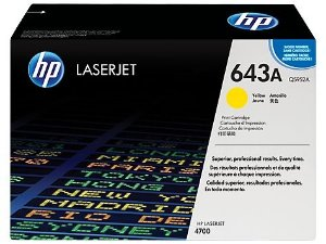 Cartucho toner HP 643A Yellow Q5952A Original