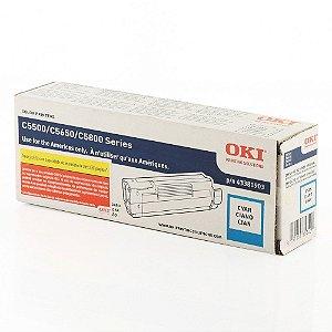 Toner Original Okidata 43381903 C5500 C5500N C5800N C5800LDN - 2000 Pgs – Ciano