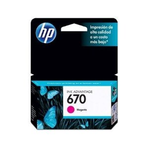 Cartucho de Tinta HP 670 CZ115AB Magenta | Original HP | 4 ml
