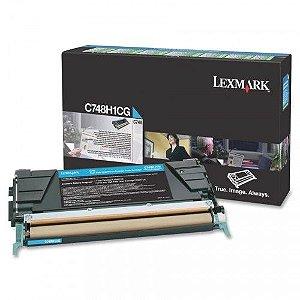 Cartucho de Toner Lexmark C748 C748H1CG 10K Ciano Original