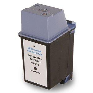 Compativel: Cartucho de Tinta HP 20 Preto C6614D  Mecsupri