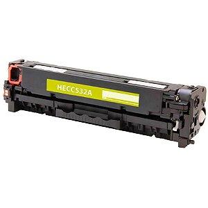 Cartucho de Toner Compatível com HP CC532A - Amarelo - Mecsupri