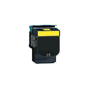 Cartucho de Toner Mecsupri Compatível com Lexmark C540 Amarelo C540A1YG