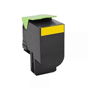 Cartucho de Toner Mecsupri Compatível com Lexmark C544 Amarelo C544X1YG