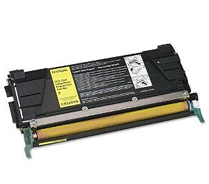 Cartucho de Toner Mecsupri Compatível com Lexmark C522 Yellow C5220YS