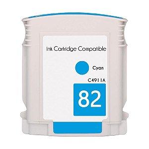 Cartucho de Tinta Mecsupri Compatível com HP 82 Ciano C4911A
