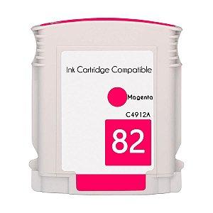 Compativel: Cartucho de Tinta HP 82 Magenta C4912A Mecsupri