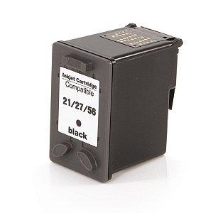 Compativel: Cartucho de Tinta HP 27 - C8727AB - Preto - Mecsupri