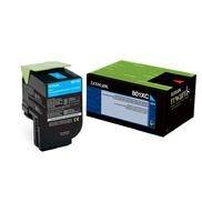 Cartucho de Toner 80C8XC0 Azul | 808XC | CX510de, CX510dhe