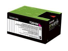 Cartucho Toner Lexmark 708HM Magenta 70C8HM0 CS510de | CS310dn Original