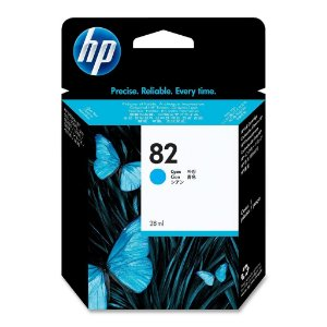 Cartucho de Plotter Original HP 82 CH566A - Ciano 28 ml.