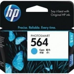 Cartucho HP 564 Ciano 3,5ml Original (CB318WL) Para HP Photosmart C309g, B210a, C5324, Deskjet 3526, Officejet 4622, 4620 CX 1 UN