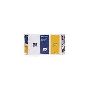 HP 80 Cartucho de impressão a jato de tinta Amarelo de 175 ml (C4873A)