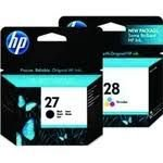 Kit com 1 Cartucho HP 28 Color C8728ab + 1 Cartucho HP 27 Black C8727ab Original