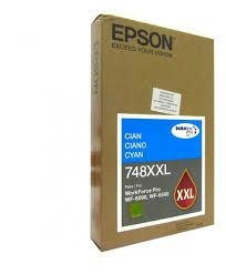Tinta Epson Ciano 748XXL WF6590 WF6090 Original