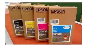 Kit de Tinta Epson 4 cores 748XXL WF6590 WF6090 Original