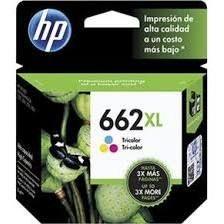 Cartucho de Tinta HP 662XL Colorido Original (CZ106AB) CX 1 UN
