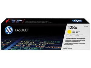 Toner HP 128A Amarelo Laserjet Original (CE322AB) Para CM1415fn, CM1415fnw, CP1525nw CX 1 UN