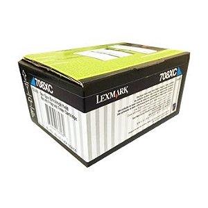 Cartucho de Toner Lexmark 708XC 70C8XC0 Ciano / CS510DE Original