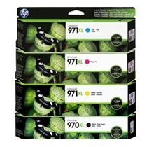 kit 4 cores para HP Officejet X451DW / X476DW ( 971 XL / 970 XL )
