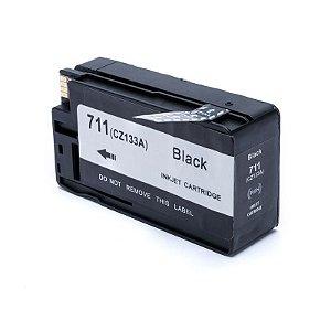 Cartucho de Tinta Mecsupri Compatível com HP 711 Preto CZ133A de 80ml