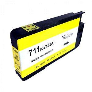 Cartucho de Tinta Mecsupri Compatível com HP 711 amarelo CZ132AB
