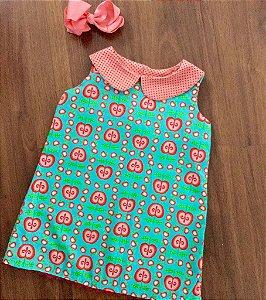 Vestido da maçã -tecido exclusivo