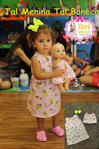 Vestido Tal MENINA Tal BONECA-Shrek Baby - Rosa BB - DreamWorks Licenciados