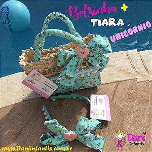 Kit Unicórnio -Bolsa mais tiara