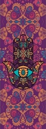 TAPETE PARA YOGA DECORADO, HAMSA