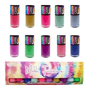 Lacre Moda Feminina Coleção Completa com Caixa Personalizada - 10 cores