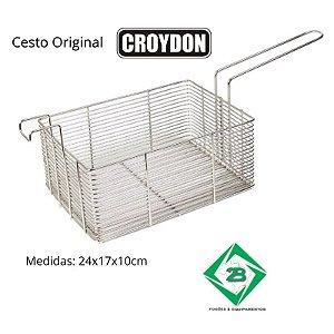 Cesto aramado em cromo Original CROYDON