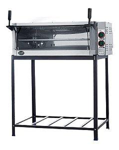 Forno Elétrico Pizza Industrial Lastro Refratária Metalnox