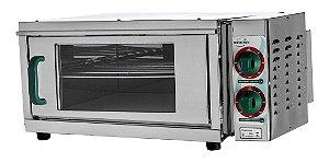 Forno Elétrico (40x40) Pizza 220v Refratário Lastro Metalnox