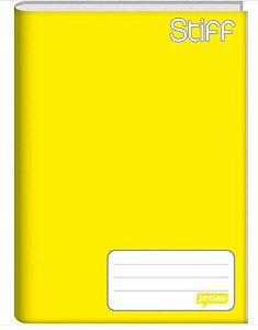 Caderno capa dura brochura universal - amarelo 96 folhas