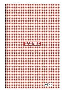 Caderno capa dura brochura universal -xadrez vermelho 96 folhas