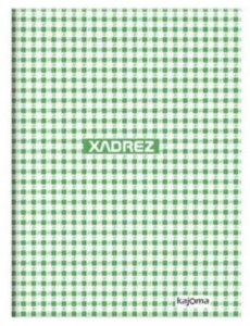 Caderno capa dura brochura universal - xadrez verde 96 folhas