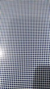 Caderno capa dura brochura universal - encapado xadrex azul 48 folhas