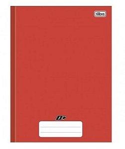 Caderno capa dura brochura universal - vermelho 96 folhas