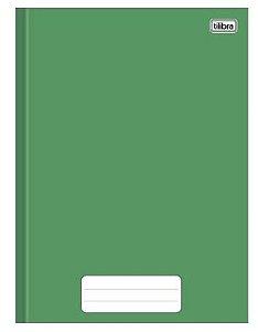 Caderno capa dura brochura universal - verde 80 folhas