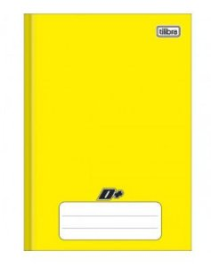 Caderno capa dura brochura universal pequeno - amarelo  - 48 folhas